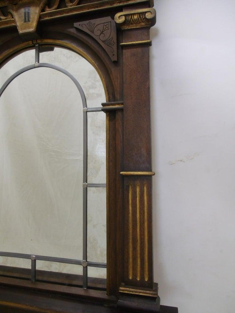 Biedermeier 1870s Sacral Way of the Cross Window from Germany For Sale
