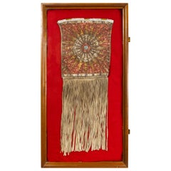 1870s Sioux Quilled and Fringed Pouch