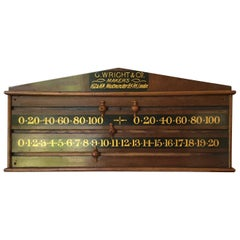 1870s Snooker Scoreboard by G. Wright and Company