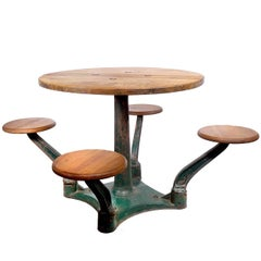 1870s Train Caboose Table and Stools