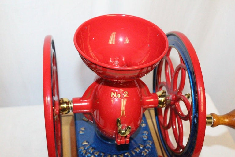 1873 Enterprise MFG. Co No.2 Vintage Coffee Grinder Restored In Good Condition For Sale In Orange, CA
