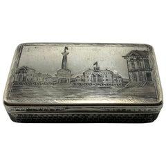 1873 Russian Silver Niello Snuff Box