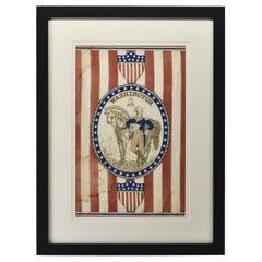 1876 Centennial George Washington Banner