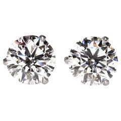 1.88 Carat Diamond Stud Earrings
