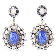 18.8 Carat Tanzanite Diamond Earrings