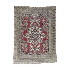 1880 Antique Persian Lavar Kerman Rug