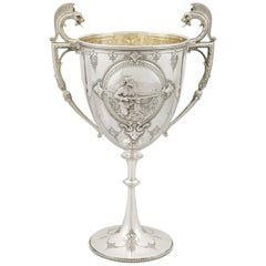 1880 Antique Victorian Sterling Silver Presentation Cup
