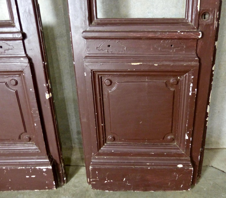 1880s Solid Wood Commercial Doors In Good Condition For Sale In Surrey, BC