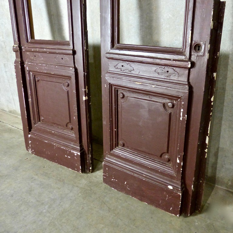 1880s Solid Wood Commercial Doors For Sale 2