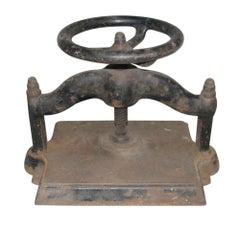 1880er Jahre Antike Gusseisen Buch Presse