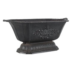 1880s Belgian Cast Iron Planter