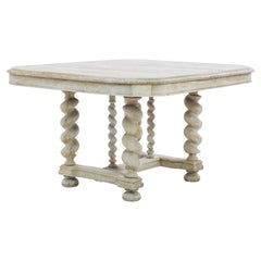 1880s Belgian Country Oak Side Table