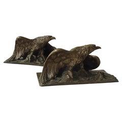 1880s Bronze Eagle by A. Marionnet