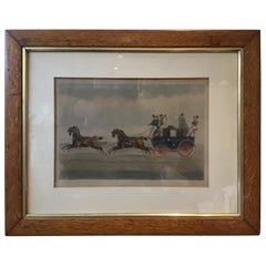 1880s English Horse Print Entitled All Right