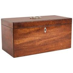 1880s English Regency Mahogany Box