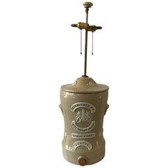 1880s English Stoneware Water Filter Lamp