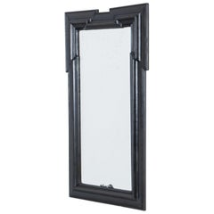 1880s French Black Painted Mirror