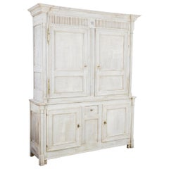 1880s French Bleached Oak Armoire