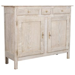 1880s French Bleached Oak Buffet