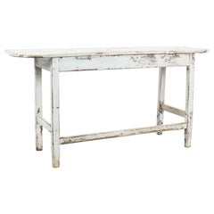 1880s French Country Patinated Console Table