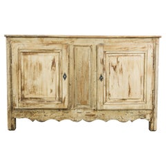 1880s French Country Patinated Wooden Buffet
