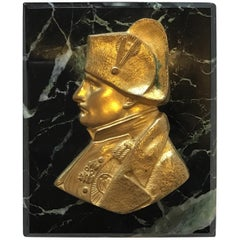 1880s French Gilt Bronze Napoleon Paperweight