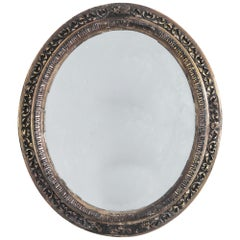 1880s French Girandole Carved Wooden Mirror