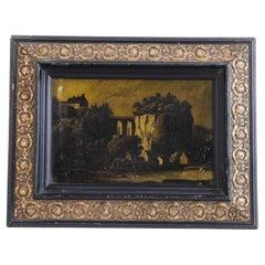 1880s French Landscape in Frame