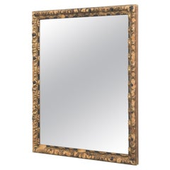 1880s French Mirror with Wooden Frame