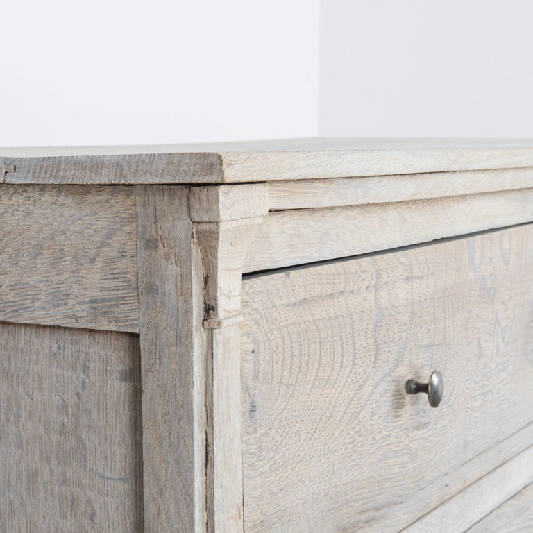 French Provincial 1880s French Oak Chest of Drawers For Sale