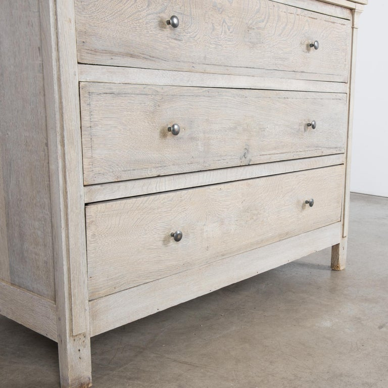 19th Century 1880s French Oak Chest of Drawers For Sale