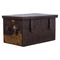 1880s French Wood and Metal Trunk
