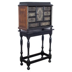 1880s French Wooden Chest of Drawers on Stand