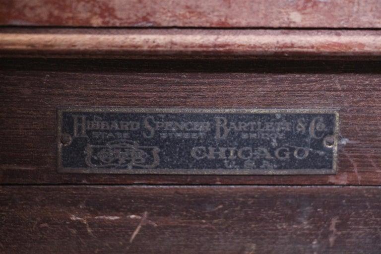 American 1880s Industrial Hibbard, Spencer, Bartlett & Co. Chicken Egg Incubator Table For Sale