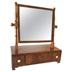 1880s Mahogany Shaving Mirror