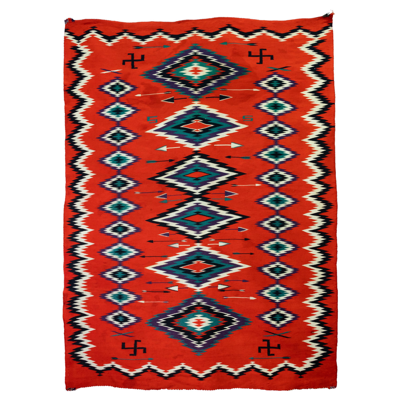 1880s Navajo Pictorial Germantown Weaving