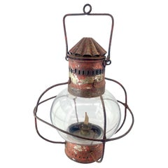 1880s Onion Porch Lantern Rustic Caged Globe Cabin-Modern Nautical Bubble Lamp