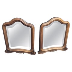 1880s Pair of Mirrors Walnut