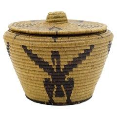 1880s Panamint Lidded Basket