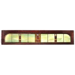 1880s Pullman Rail Car Transom Window