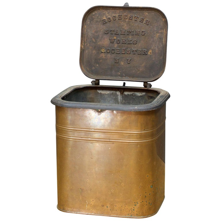 1880s Rochester Stamping Works Copper Coal Can Industrial
