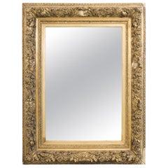 1880s Rococo Gilded Wooden Mirror
