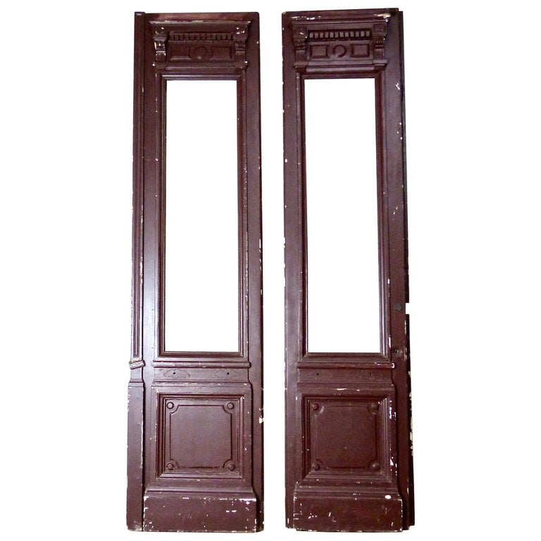 1880s Solid Wood Commercial Doors For Sale