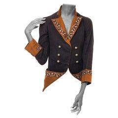 1880S Victorian Brown Chic Civil Warstyle Jacket