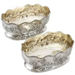 1880s Victorian Sterling Silver Bon Bon Dishes