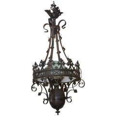 1880s Wrought Iron American Gothic Light