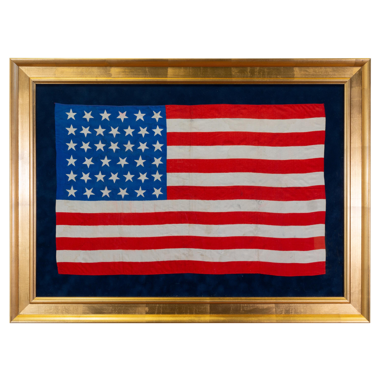 1889 North Dakota 39 Star United States of America Parade Flag