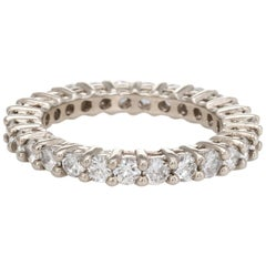 1.89 Carat Diamond Eternity Ring Vintage Fine Estate Jewelry Stacking