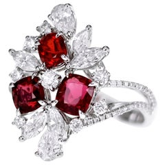 1.89 Carat of Burma Vivid Red Spinel Cocktail Ring
