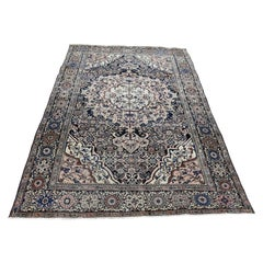 1890 Antique Persian Fereghan Sarouk Rug Soft Colors, Pliable